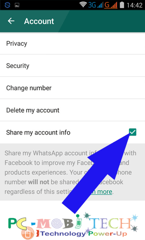 Disable-WhatsApp-Account Information-sharing-with-Facebook