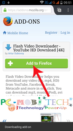Download youtube videos with firefox android pcmobitech flash video downloader youtube hd download 4k ccuart