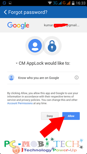 Clean Master Applock :Tap-on-Allow-to-allow-Google-account-access-Clean-Master-applock