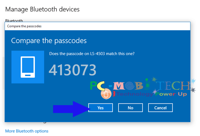 comapare-the-bluetooth-passcode