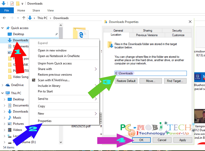 How-to-change-windows-10-default downloads folder-location