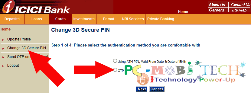 icici-bank-3d-secure-pin-change