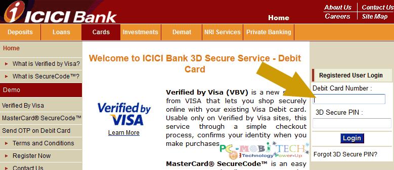 icici-bank-change-3d-secure-pin-online