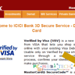 Create, Change and reset 3D Secure authentication PIN (ICICI Bank Card).