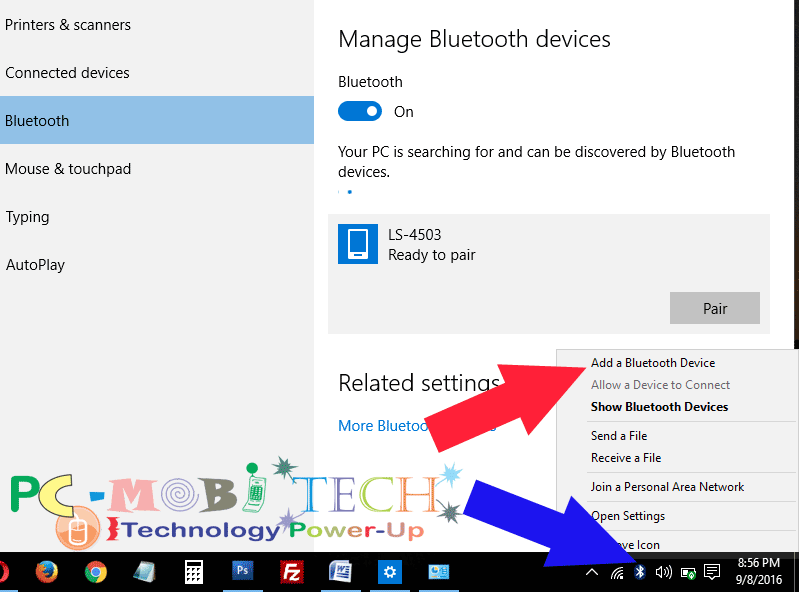 how to tell bluetooth to connect on laptop