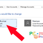 Howto change username and password in Windows 10