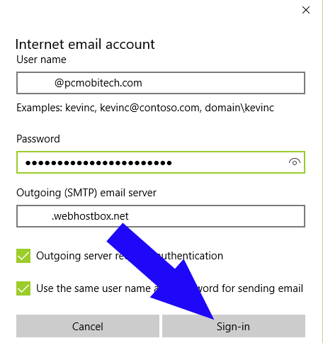 Configure-domain-email-account-with-windows-10-Click-on-signin-button