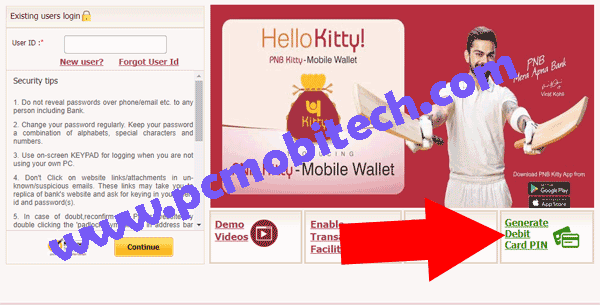 How to Reset PNB Debit card PIN online