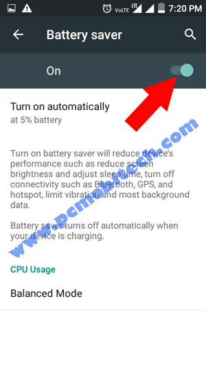 How to enable \u0026 use Android Battery Saver to save phone Battery.