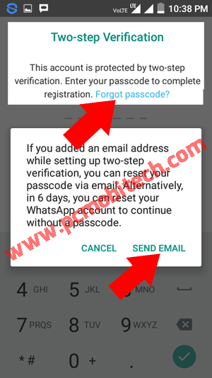 Disable-two-step-verification-using-email-id-whatsapp