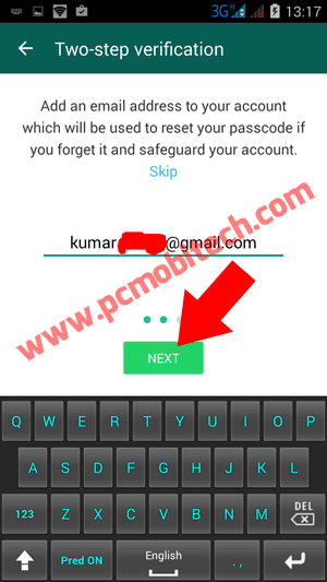 enter-email-id-and-click-on-next-button to disable Two-step verification