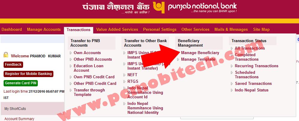 net banking apply online pnb