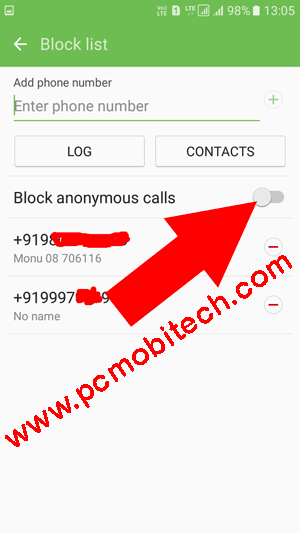 Block-anonymous-calls-in-Samsung-Galaxy-Phone.