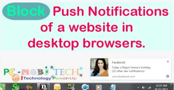 How to disable Push Notifications of a website in Desktop Browser.