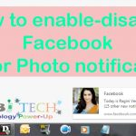 How to enable-disable Facebook Post Notifications.