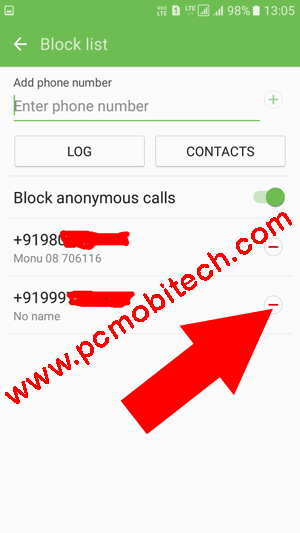 Samsung-galaxy-Phone how to Remove-a-number-from-Call-blocking-list