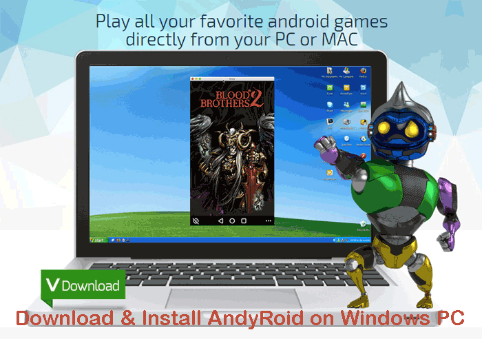 How to Download & install Andyroid Android app emulator in