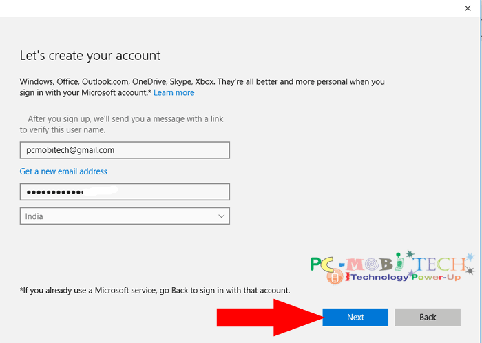 microsoft account email address
