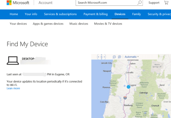 Find-my-device-with-the-Microsoft-Account