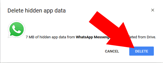 Click-on-Delete-button-to-confirm-Delete-data-WhatsApp-chat-history