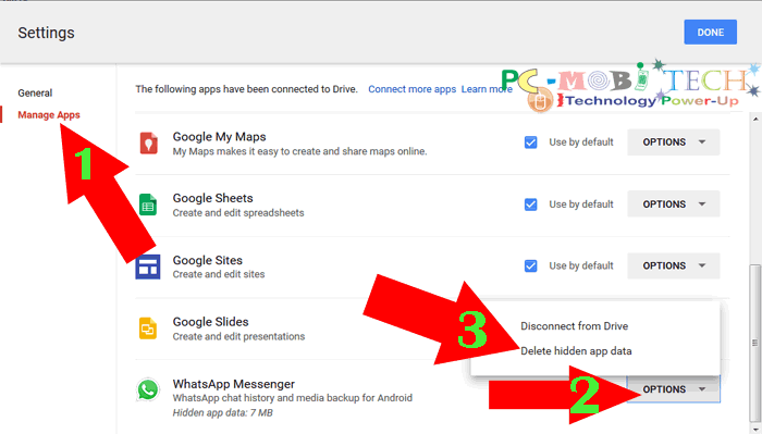 how to wipe google drive