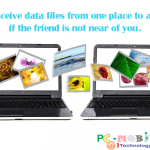 Send-receive files from one device to another if the friend is not near to you.