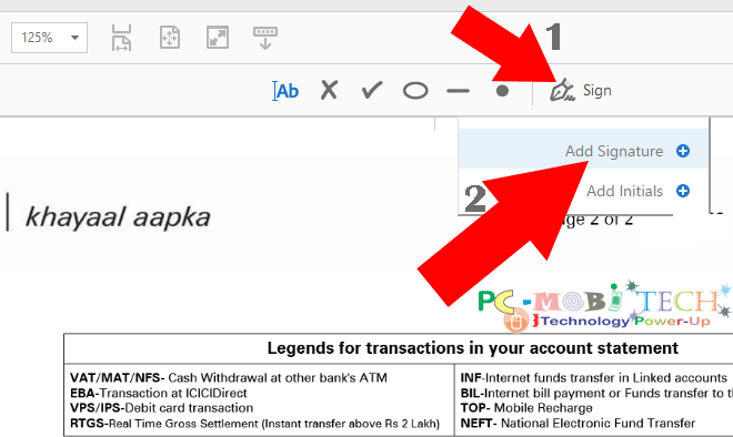Add Electronic signeture on PDF documents using adobe reader