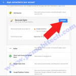 How to remove unwanted app permission from Google account.