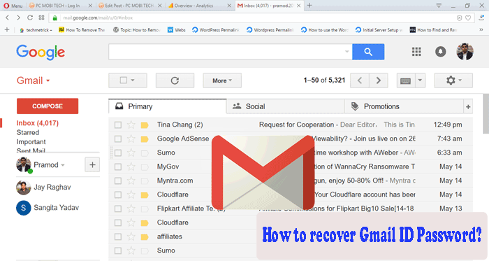 how to find gmail password