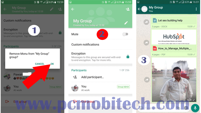 Using WhatsApp as a private store and transfer files between Computer and Mobile3