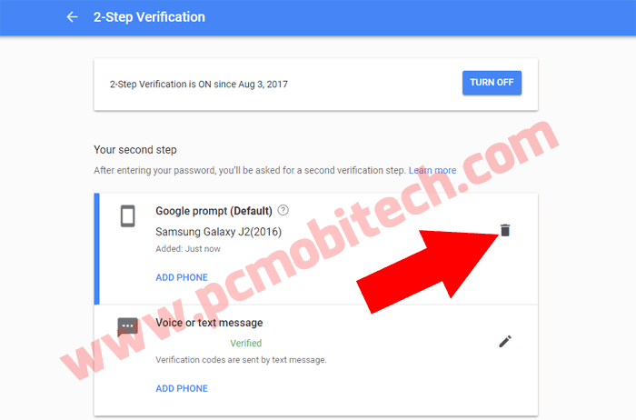 Google Prompt two factor Authentication