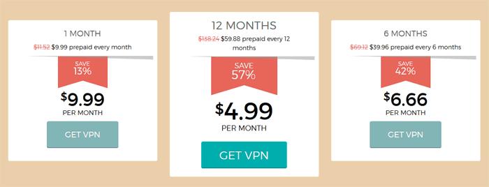 Hide My Ass VPN Pricing