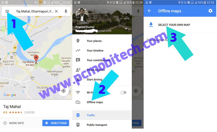 How to Download and use Google Map offline without Internet