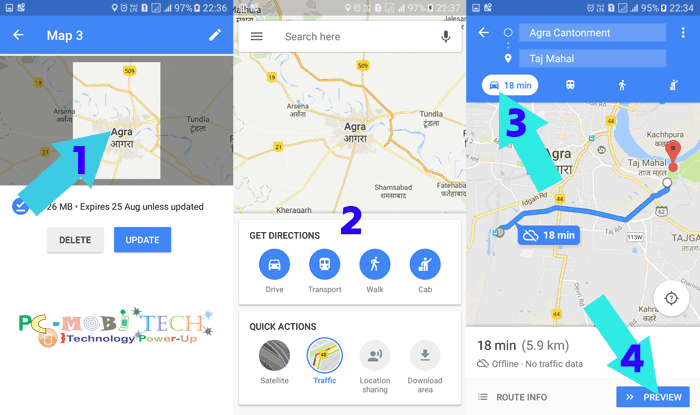 How to use Google Maps offline on Android  - PCMobiTech