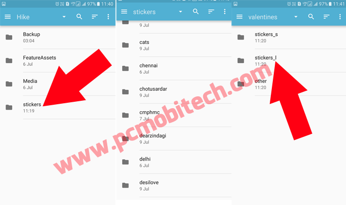 How to Share or Send Unlimited Hike Stickers to WhatsApp Facebook and Other apps 5