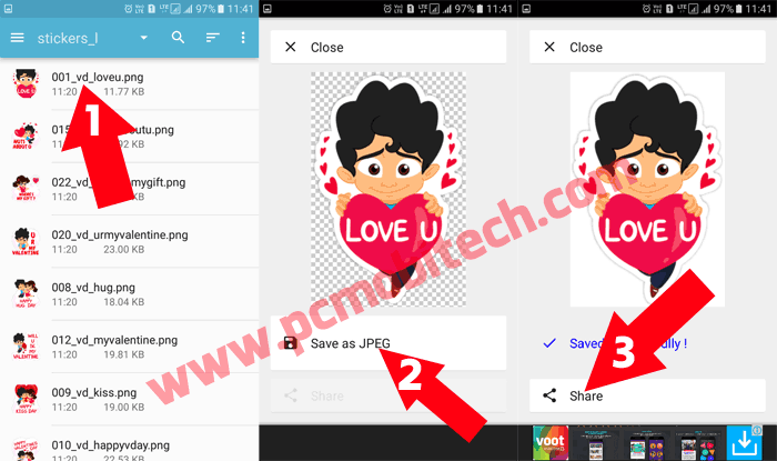 How to Share or Send Unlimited Hike Stickers to WhatsApp Facebook and Other apps 6