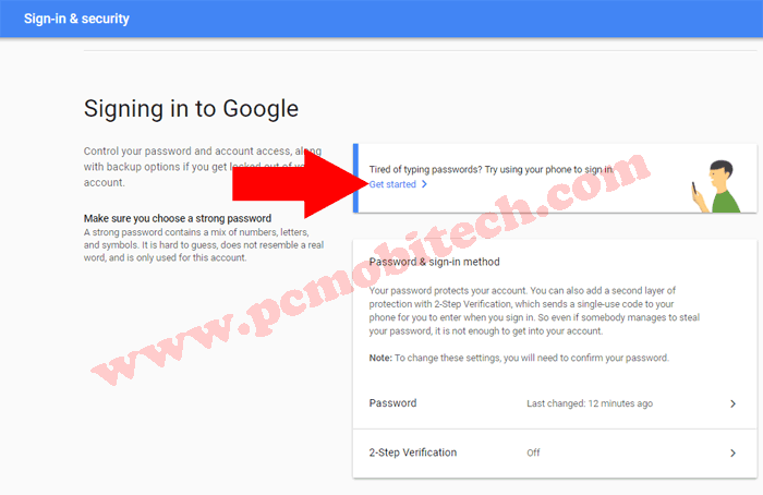 How to enable Google Prompt security on Google Account