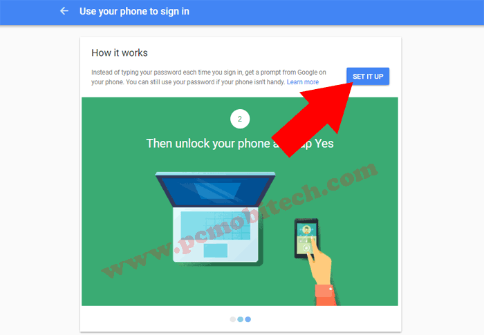 How to enable Google Prompt security on Google Account 2