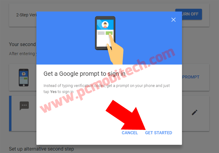 Enable Google Prompt with 2 factor security-2