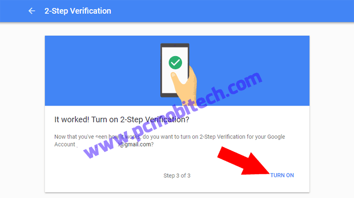 How to enable 2 step verification on Google Account 6