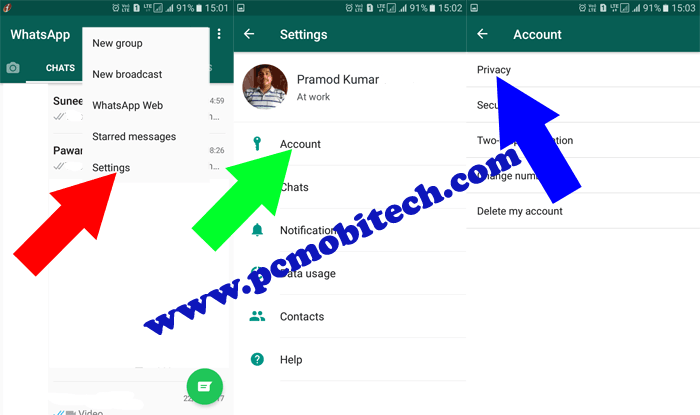 How to set text based colourful status and show to selected contacts