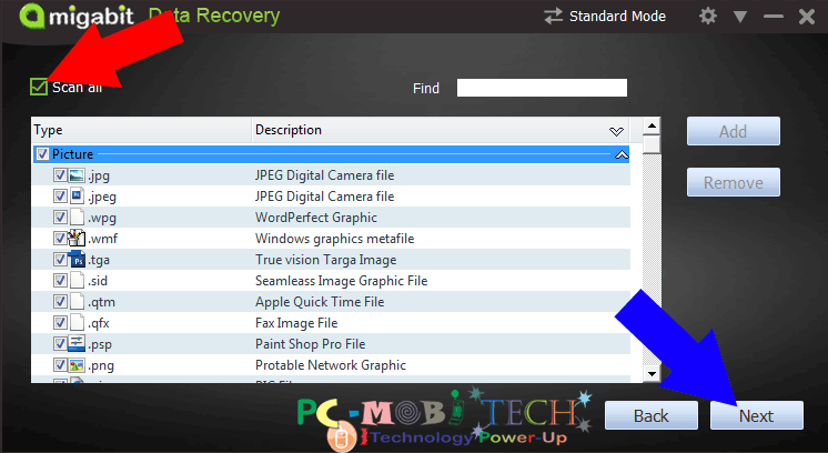 Amigabit data recovery process