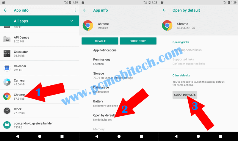 How to Reset Default apps on Android 8.0