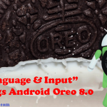 Language and Input (Keyboard) Settings on Android Oreo 8.0.