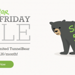 TunnelBear VPN Black Friday – Cyber Monday 2017 discount/coupon code upto 58% off.