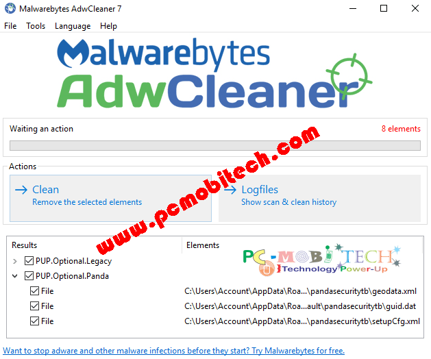 ADWCleaner Adware removal Tool