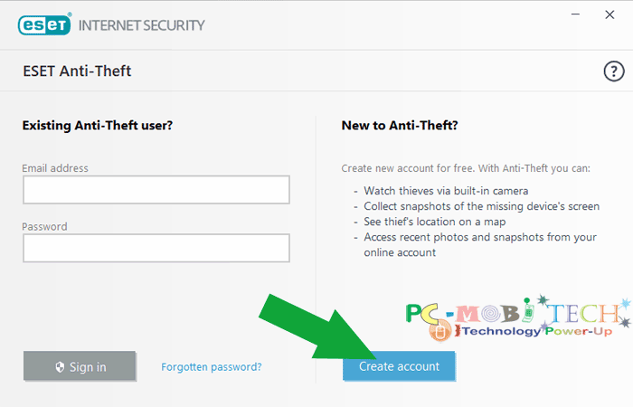 Eset Internet Security Anti-theft activation--Create-Account 2