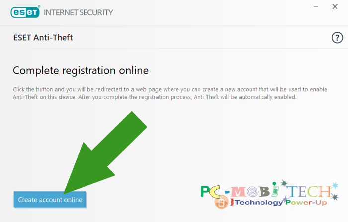 Eset Internet Security Anti-theft activation-Create-Account-Online 4