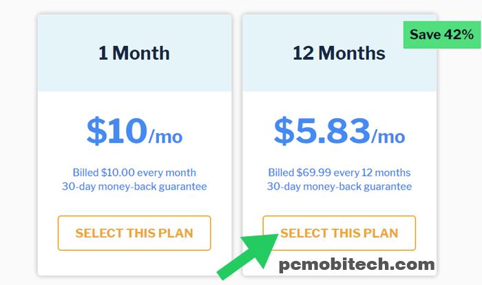 Select StrongVPN plan