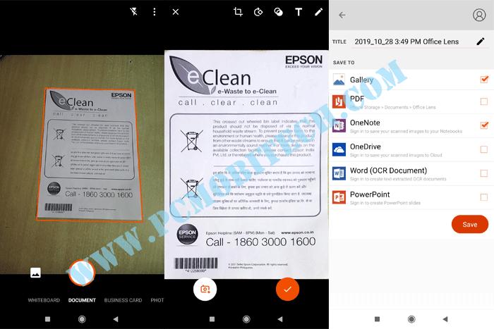 Officelens-Mircrosoft Scanner